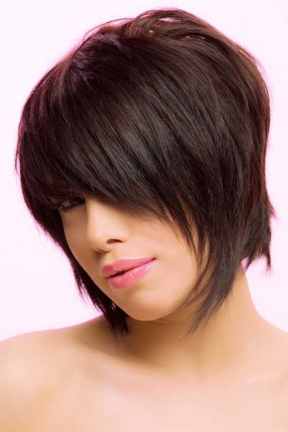 bob Hairstyles Short Stacked with Bangs - styloss.com