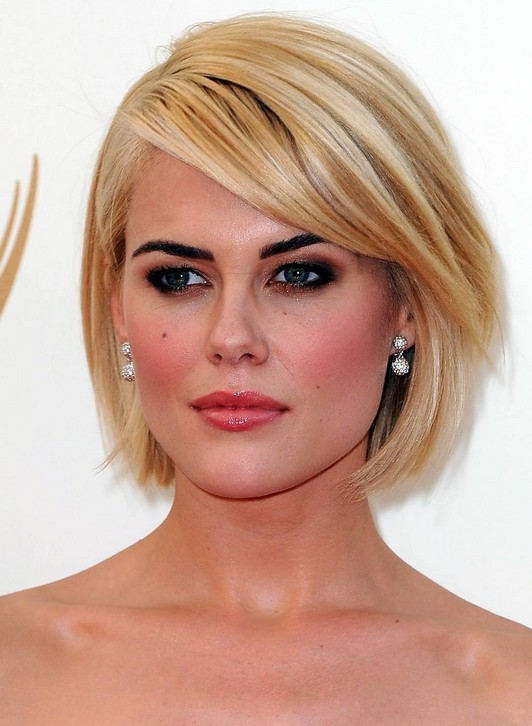 With Side, Full Fringe Long Bob Hairstyles - styloss.com