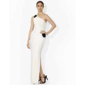 One Shoulder calvin klein evening dresses pleated beaded and sleeveless gowns