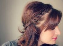 Half Up Half Down Twisted Sides Curly Hairstyle
