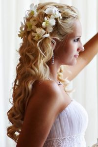 Prom Curly Hairstyles Half Up Half Down