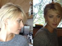 New Long, Short Blonde Hairstyle Maria Sharapova's