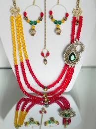 With Beads Indian Jewelry Designs