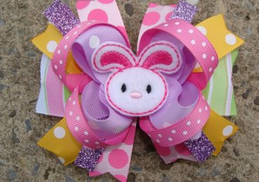 How to Make Easter Bunny Hair Bows for Babies