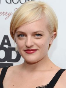 Elisabeth Moss short pixie haircut color 2014