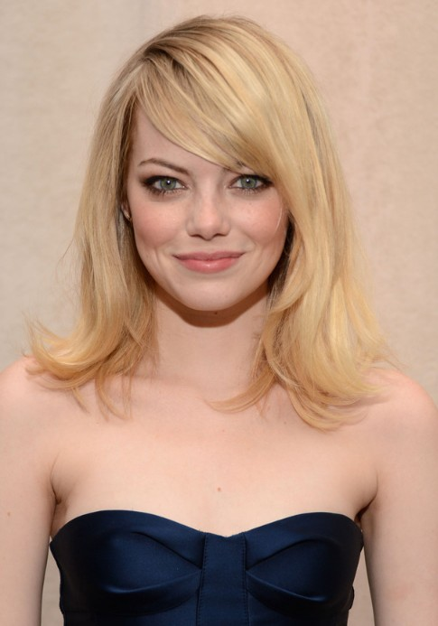 2014 Emma Stone Haircut Bangs with layers hairstyle