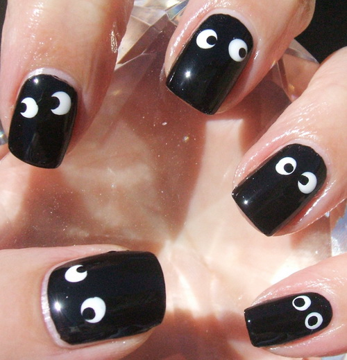 Black nail art designs for short nails with white styloss black nail art designs for short nails with white prinsesfo Image collections
