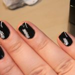 For Short Nails White Nail Art Designs with Black