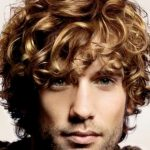 Curly Blonde Short men Hairstyles