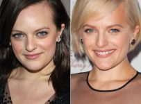 Short pixie hairstyle of Elisabeth Moss 2014