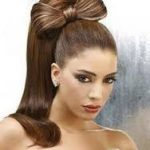 Ponytail Hairstyle with High length