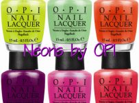 opi neon nail polish swatches