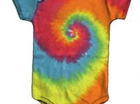 tie dye pattern shirt for babies