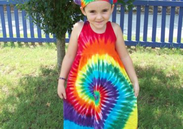 Tie Dye Dresses for Toddlers Babies