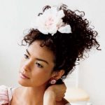 African American wedding hairstyles with flower