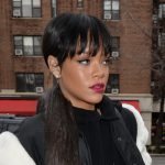 With Long ponytails hairs Rihanna short bob hairstyle