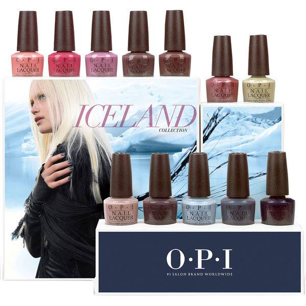 OPI nail lacquer by ice land