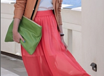 Match shoes with maxi skirt