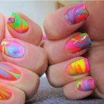 tie dye nails tutorial