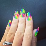 tie dye nails diy