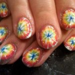 tie dye nails with petroleum jelly