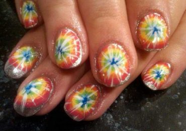 How to Do Tie Dye Nails without Water Step by Step at Home