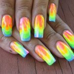 how to paint tie dye nails