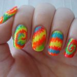 tie dye nails instructions