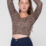long sleeve crop top new look