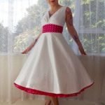 tea length rockabilly wedding dresses