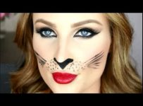 cat eyes makeup halloween