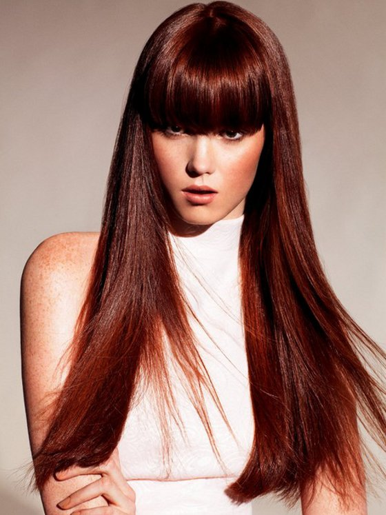 Fiery red hair Fall color Brunettes