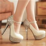 High Heels Silver Prom Shoes