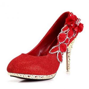 High Heels Red Prom Shoes