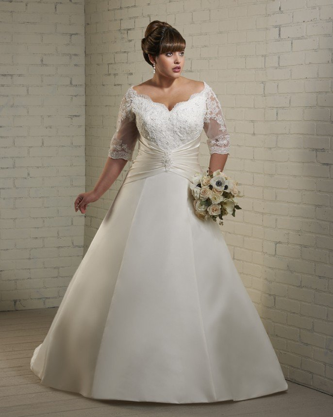 White Plus Size Wedding Dresses Under $100 : White plus size wedding dresses under short