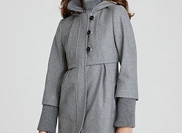 Plus Size Wool Coats with Hood for Women