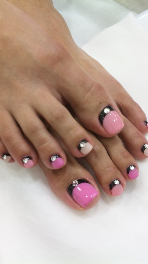 double reverse french manicure