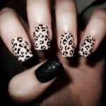 leopard print nails with eraser