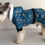 floral pattern dog raincoats with hoods