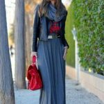 how to style a maxi dress for winter