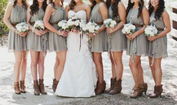 wedding dresses that go with cowboy boots - styloss.com