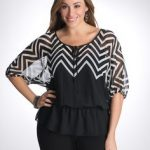 hive and honey chevron skirt