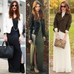 different ways to wear a maxi skirt in winter