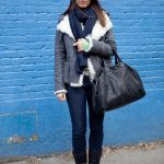 new york street style scarf around neck