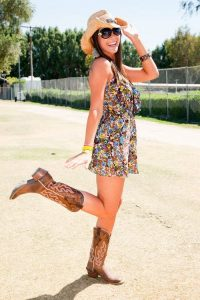 cowboy boots with sundresses