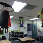 hanging halloween decorations for classroom