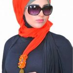 hijab in different styles with glasses