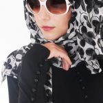 hijab style with glasses