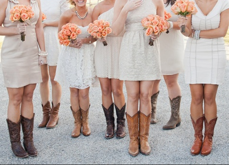 High low wedding dresses with cowboy boots for High low wedding dresses with cowboy boots