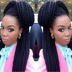 senegalese twist styles updos